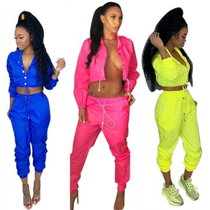 Autumn 2 Two Piece Set Top and Pants Women Tracksuit Casual Outfit Sports Suit Solid Blue Women Tracksuits