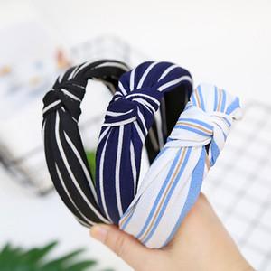 In Lace-Knoten-Haar-Band-Stirnband-Haarschmuck und weisespassvogelbefestiger einfache feste Farbe Knoten-Kreuz-Tuch-Kunst-Haar-Stirnband A99