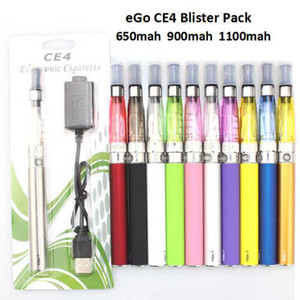 EGO CE4 스타터 키트 1.6ml 전자 담배 물집 키트 650mAh 900mAh 1100mAh Clearomizer 기화기 E Cig Kit Vape 전자 담배