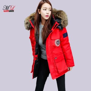 Maylina Parka Coat Winter Coats For Women Black Long Sleeve Hooded Parka Middle And Long Paragraph To Increase The Size Of 3xl