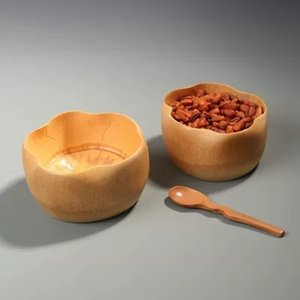 Handmade Bamboo Bowl For Salad Mixing Food Soup Rice Kids Bowls Creative Wooden Utensils Japanese Cookware Decorative Hot sales