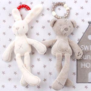 cute Baby Crib Stroller Toy Rabbit Bunny Bear Soft Plush infant Doll Bed Pram