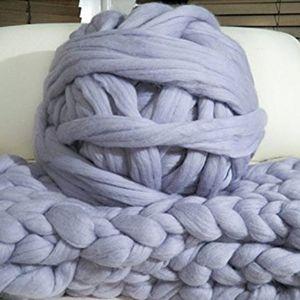 ZENGIA 1000g / Ball Superdick Garn weicher Merinowolle Yarns Große Chunky Yarn Sperrige Arm Roving Knitting Decke Spinning Yarn Wolle T200601