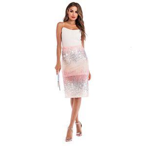 Skirts For Women Pencil Skirt Fashion Autumn Woman Skirt Lady Sequins Slit Gradient Women Plus Size Sexy Bodycon Midi Skirt