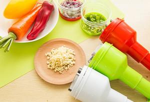 Vegetable Pressão Cortador de mão Cozinha Alho Chopper Dispositivo Corte a cebola Cortador vegetal Aço Inoxidável plástico ferramenta de boa qualidade
