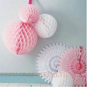 Frete grátis 3 pcs 8inch = 20cm decorativas flores de papel Lanterna Honeycomb Balls para o casamento, crianças decoração de aniversário