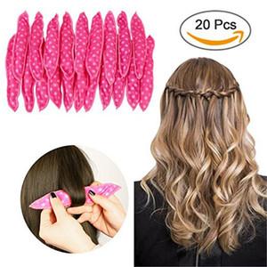 جديدة بكرة الشعر الشعر موجة نقطة مع رئيس زهرة الكمثرى بكرة الشعر الإسفنج مع ربطة الانحناءة 20PCS النوم = 1BOX