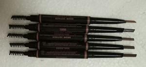 Em estoque! Da sobrancelha da composição Enhancers Maquiagem magro Brow Pencil ouro duplo terminou com sobrancelha escova 5 cores Ebony / Medium / Soft / Dark / chocolate