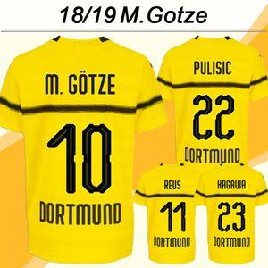 2018 19 M.GOTZE REUS Cup Match Hommes Football Maillots PULISIC KAGAWA Accueil Jaune football Chemises HUMMELS Piszczek Weigl Manches courtes Uniformes