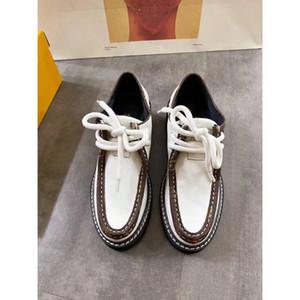 موضة 2020 حذاء جديد Beaubourg لمنصة DERBY الرباط حتى مصمم أحذية نسائية الأحذية الكاجوال