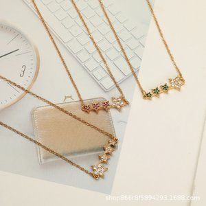 2020 New Exquisite Copper Alloy Inlaid Zircon Necklace Simple Fashionable Clavicle Chain Women Men Jewelry Gift