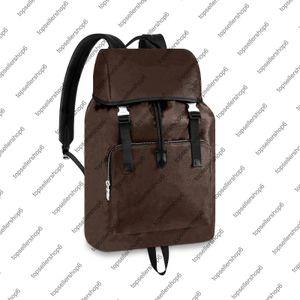 M43422 N40005 Zack Homens Backpack Canvas De Couro De Couro De Couro Têxtil Têxtil Cinta De Viagem Bagagem Tote Bolsa De Sacola Bolsa