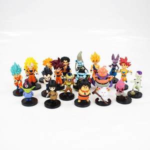 20pcs lot Dragon Ball Z Figure Toy Goku Vegeta Super Saiyan God Hercule Frieza Boo Beerus Whis Anime Dbz Mini Model Dolls Y19051804