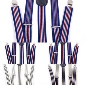 Hipster uomini singolo elemento della banda e sottile fettuccia elastica cinghie fionda 3 Clip universale delle donne