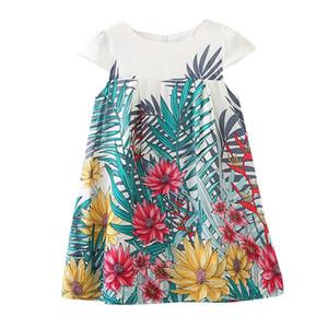 Ragazze Baby Girl Dress Bambini Kids Girls senza maniche Dance Party Floral Print Princess Dress Perimedes per i vestiti del bambino