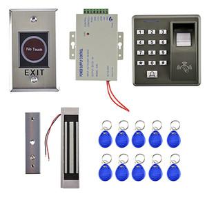 125KHZ Carte RFID biométrique d'empreintes digitales porte de contrôle d'accès Kits Set