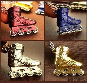 4 Pçs / set, Esporte Mercadorias Chaveiros, Roller Skate KeyChain, Bola Chaveiros, acessórios de jóias, Criativo, para Presente Personalidade