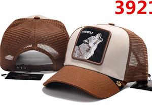 디자이너 메쉬 바이저 모자 고급 여성 남성 패션 모자 타이거 늑대 곰 멀티 스타일 동물 자 수 야구 모자 Snapback Hat 골프 공 모자