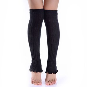 Newly 1pair Fashion Leg Warmers Woman Long Stockings Popular Hemp Flowers Knitting Step Foot Winter Warm Stocking CTN88