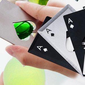 Garrafa de aço inoxidável abridor de cerveja Abridor de Poker Cartão de jogo de Espadas Soda Bottle Ferramentas Cap abridor barra de cozinha acessórios ZZA1101N