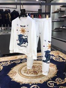 Designer Tracksuit Men Luxury Sweat Suits 2019 New Spring Brand Mens Jogger Suits Hoodies+ Pants Sets Sporting Hip Hop Suit Size M-3XL