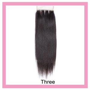 Перуанский человеческих волос 4X4 Lace Closure Объемная волна прямой 10-20inch с ребенком волос Три части Whloesale Top Closures