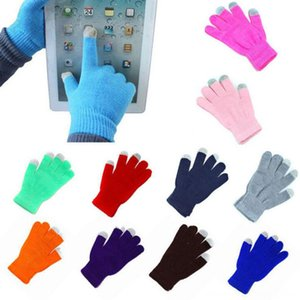 Winter Touch Screen Texting Cap Smart Phone Women Men Gloves & Mittens Hats, Scarves & Gloves Warm Stretch Knit Mittens Full Finger Female C