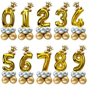 Numéro Deco Anniversaire Ballons Ballons enfants Chiffre chiffres Baloon pour Birthday Party Décorations enfants Ballon Bday Décoration XN