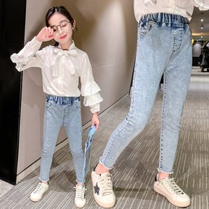 Girls jeans spring and summer dress elastic pencil pants Korean style slim trousers girl pencil pants