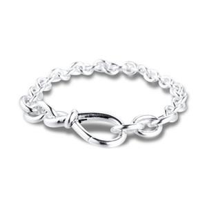 Pandora Chunky Infinite Knot Bracelet Bracelet Suitable for 925 Sterling Silver Bracelet Female Bead Charm DIY European Jewelry 16cm