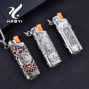 HAOYI Edelstahl Mode 2019 Männer Halskette der neue Entwurf Schmuck Hip Hop Retro Lighter Anhänger für Männer