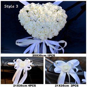 2019 NEW 웨딩 중심 자동차 장식 꽃 순수한 흰색 웨딩 인공 꽃 화환 장식 가짜 꽃