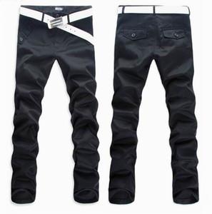 3 couleurs Hommes Pantalons Pantalons simple Pantalons longs Fashion Casual Slim Fit Design Bouton Pantalon d'affaires