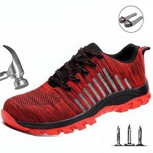 Anti-perfuração de protecção de segurança eletricista isolados anti-derrapante sapatos resistentes ao desgaste Leve Moda Casual Sapatos Masculinos