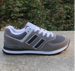Envío de gota Tamaño de cuero 36-44 Hombres y mujeres Encaje-up Zapatos casuales Parejas Zapatillas de deporte Zapatos Más colores