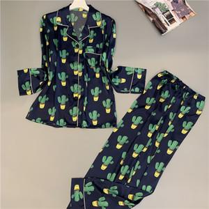 SOVELOSA Langarm Druck Mode Frauen Pyjamas Set Plus Größe Dünnschliff Weiche Nachtwäsche Herbst Frau Kleidung Pyjamas