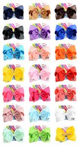 8 pouces Jojo Siwa cheveux Bow couleur solide avec des clips Papercard Logo Métal filles géant arc-en-strass Accessoires cheveux Épingle hairband A46