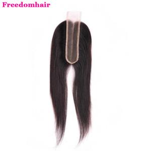 Перуанский Straight 2x6 Virgin человеческих волос шнурка Закрытие Объемная волна Натуральный черный Средний Коричневый цвет шнурка 10-20 дюймов 2x6 прямой Lace Closure