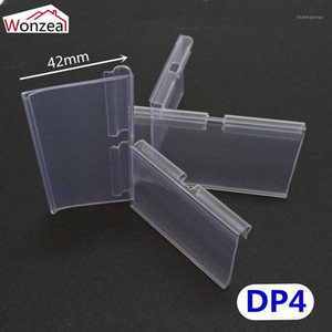 100pcs lot Clear PVC Plastic Price Tag Sign Label Display Holder Thickening For Store Shelf Hook Rack or Supermarket1