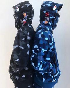 Sokak Kamuflaj ceketler Mens Kış Fermuar Kapüşonlular Fleece Kadınlar Sweatshirt Uzun Kol Kapşonlu Kazak Lüks ceketler Hiphop Kalite B103568L