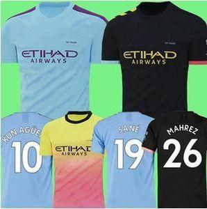MEN 19 20 Manchester City Fußball-Jersey-Mahrez 2019 2020 DE BRUYNE Kun Agüero Frauen-Fußballhemd Unterhemd MENDY WALKER SILVA Uniformen