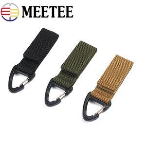 Meetee Outdoor Tactical Nylon Webbing Backpack Hang Hook Fibbia moschettone Multi-funzione chiave gancio clip tessitura fibbia cintura fibbia AP254