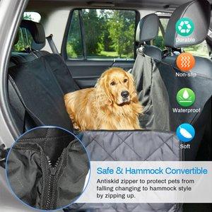 Pet ناقلات الحيوانات الأليفة النسيج أكسفورد للماء الخلفي الخلفي غطاء مقعد الكلب سيارة المقعد الخلفي الناقل حصيرة الأرجوحة حامي وسادة