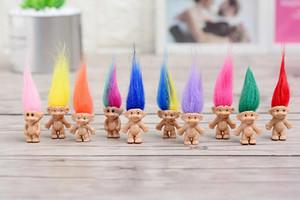 Bunte Haar-Troll-Puppen-Familienmitglieder Vati-Mama-Baby-Mädchen-Leprocauns-Verdammungs-Troll-Spielzeug-Geschenke Glückliche Liebes-Familie WCW384