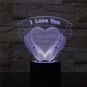 New 3D little night light I love you series creative design can be customized bedroom led lamp gifts