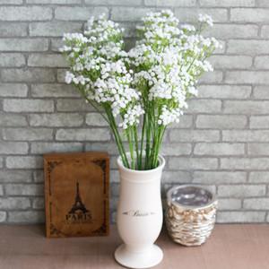 Real Touch Gypsophila Искусственные свадебные цветы для невесты белый фиолетовый детское дыхание поддельное растение свадьба вечеринка украшения дома свадебный букет