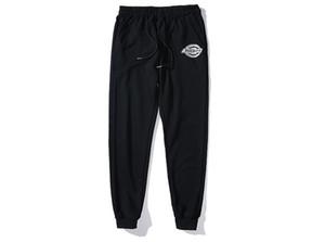 2020 Classic 3M Reflective Premium Heat Transfer Logo Cotton Terry Trousers Black M--XXL
