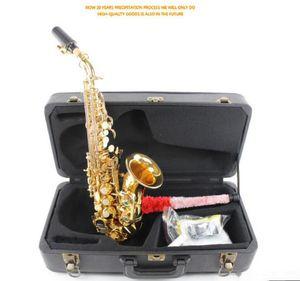 Nueva llegada Brands Curva Saxofón Soprano Latón Sax Boquilla desempeño profesional del envío