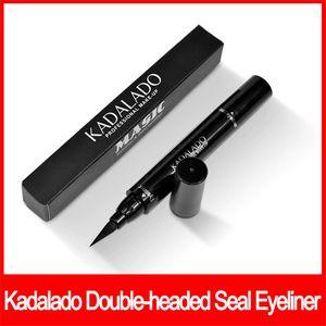 아이 메이크업 Kadalado 아이 라이너 아이 날개 스탬프 얇은 두꺼운 눈 액체 방수 패션 뱀프 라이너 이중 씰 아이 라이너 무료 배송