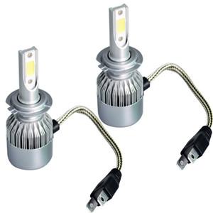 Marca New Car Faróis Universal C6 faróis LED brilhante High Beam Bulb H7H1H4H11H9 9005 9007 9006 Luzes do carro